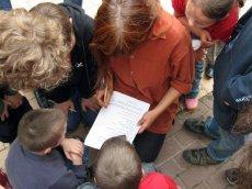 Eindrücke Bauernhof-Rallye - auch kniffelige Fragen müssen beantwortet werden