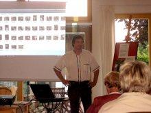 Impression aus einem Vortrag im Künstlercafé